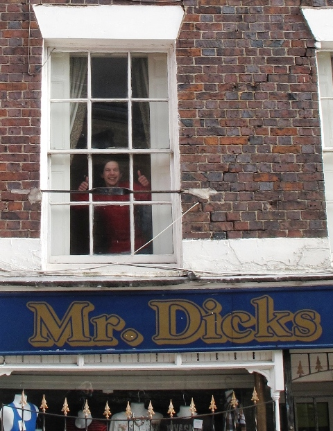 The face of Mr Dicks, Church Street, Newcastle-under-Lyme