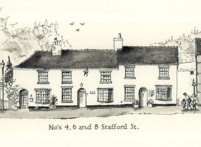 4, 6  and 8 Stafford street, Audlem