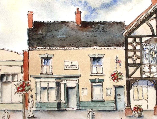 drawing of Eccleshall Pharmacy