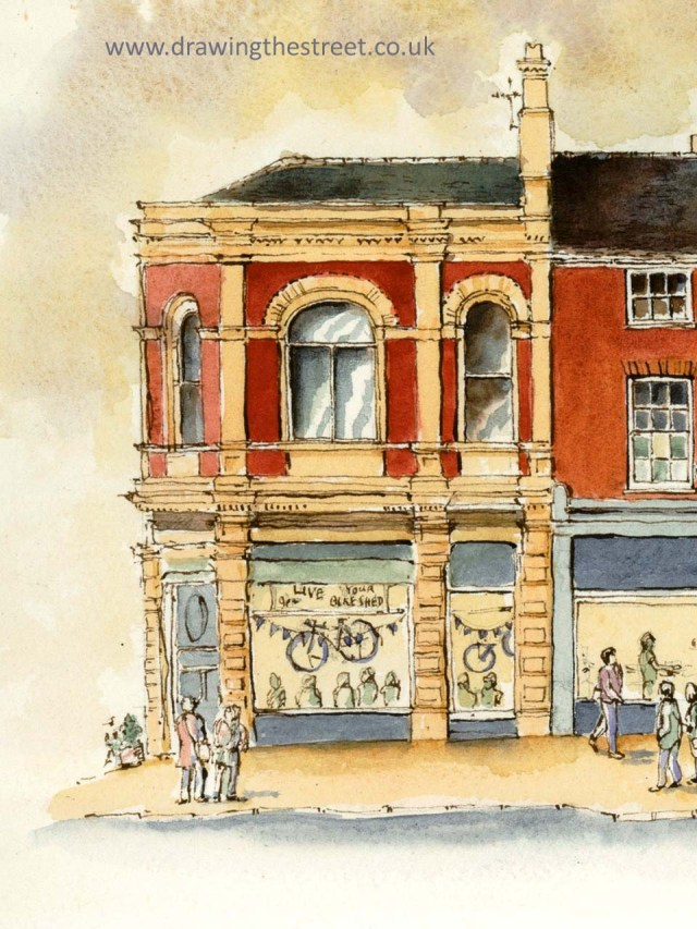 drawing of the Bike Shed Micklegate york
