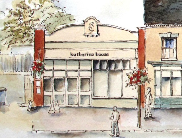 drawing of Katherine House Hospice shop