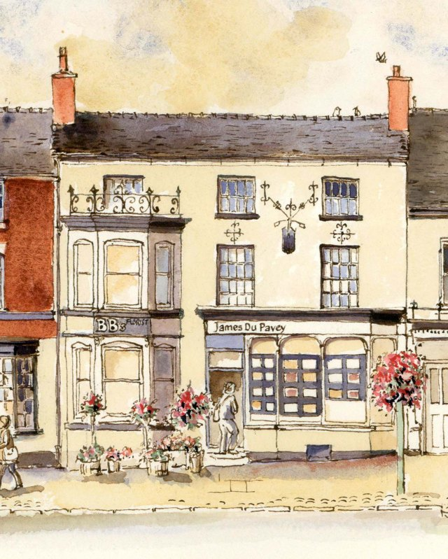 James du Pavey drawing eccleshall