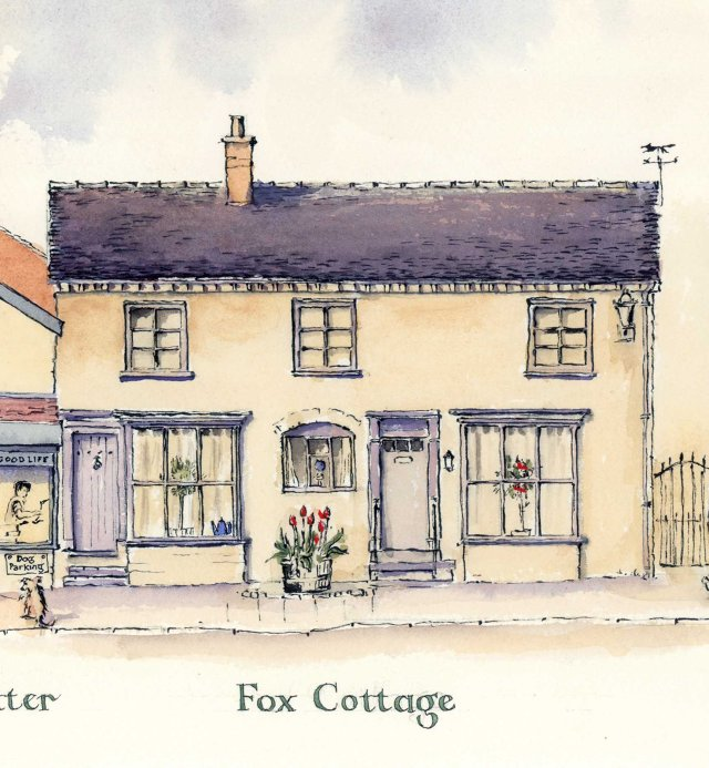 Audlem Cheshire Street fox cottage