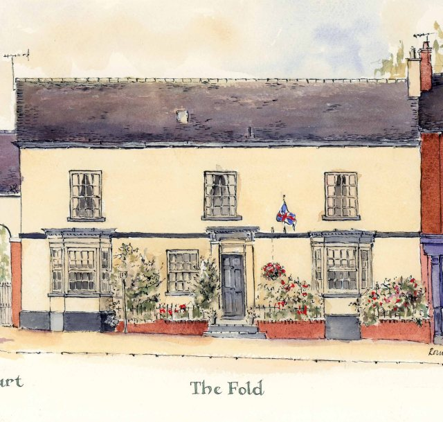 Audlem Cheshire Street the fold