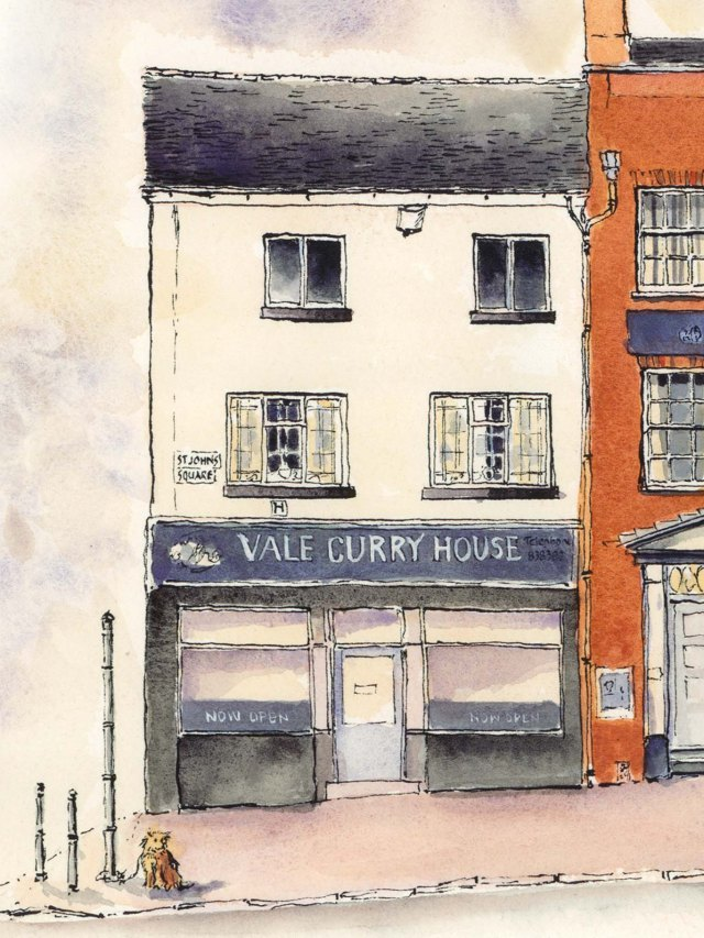 Vale curry House drawing Burslem