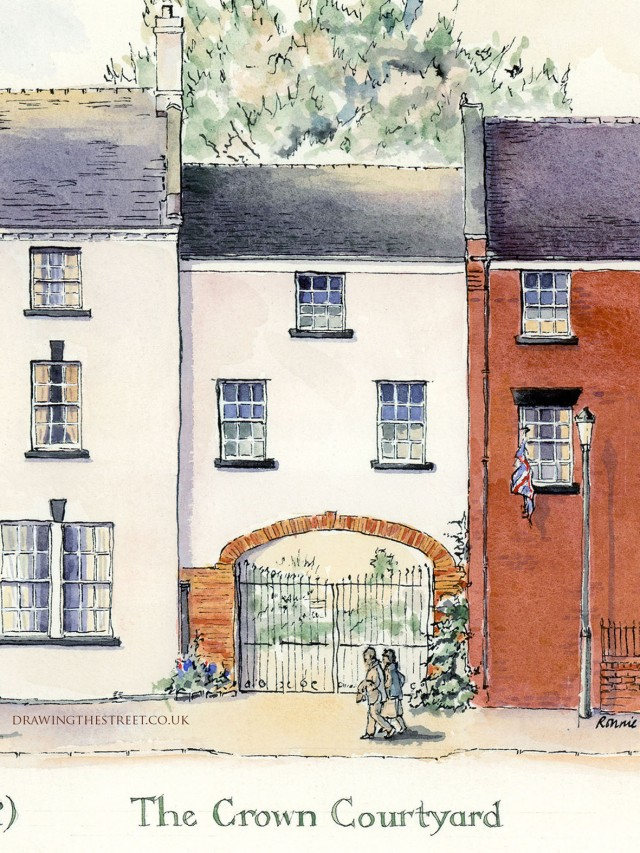 drawing of Crown Courtyard, Audlem
