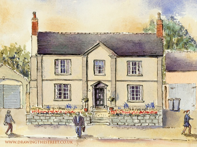 76 High Street Eccleshall pen and ink artwork