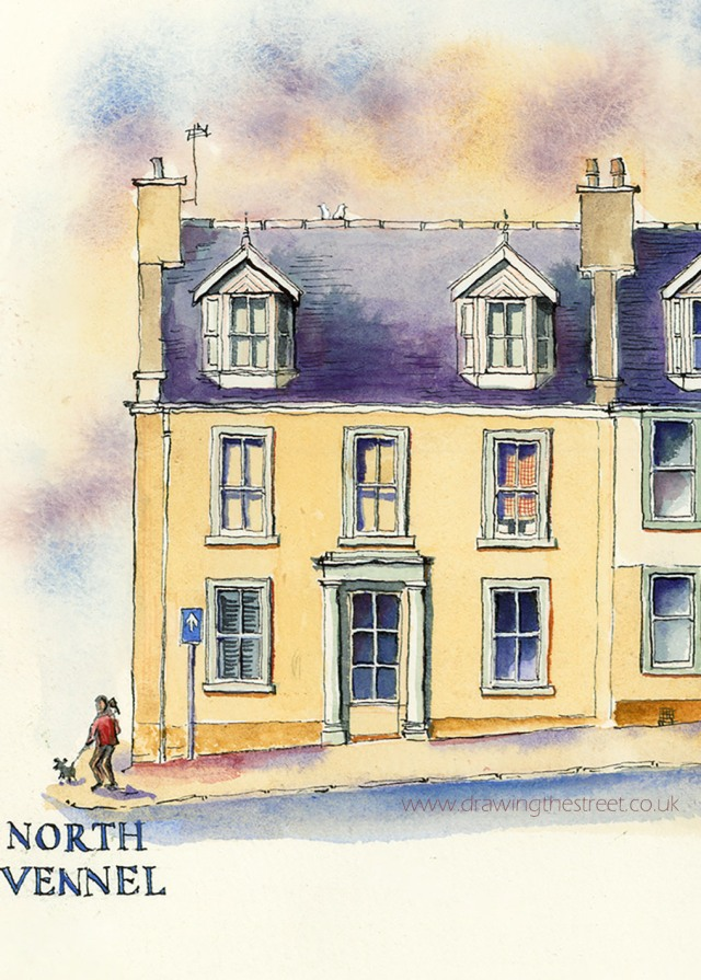 traditional town house drawing lanark