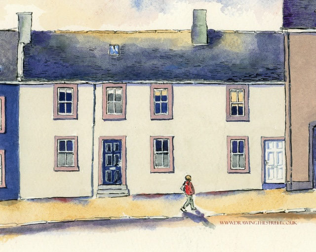 9-32maybe-Broomgate-Lanark-ronnie-cruwys-drawing-the-street