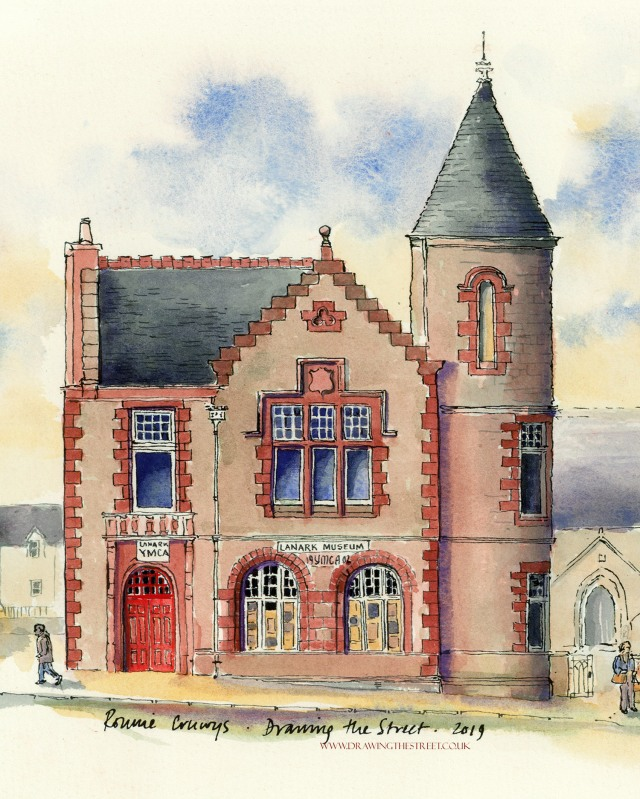8-lanark-museum-ymca-ronnie-cruwys-drawing-the-street