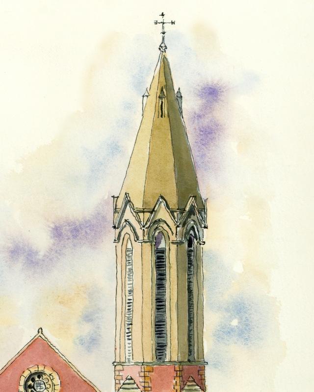 9-greyfriars-church-tower-ronnie-cruwys-drawing-the-street