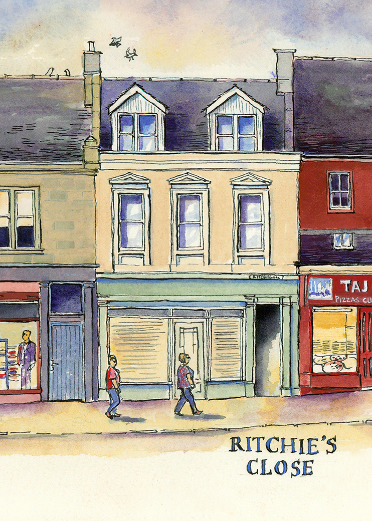 drawing of Ritchie's Close Lanark