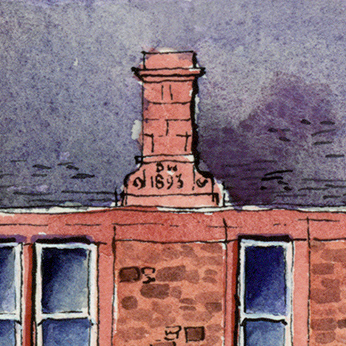 detail of masonry date on wellgate lanark