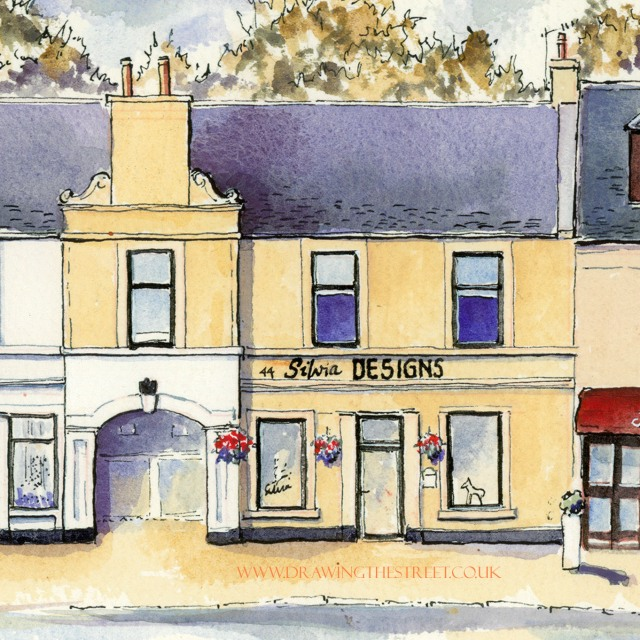 artwork by ronnie cruwys of silvia designs wellgate lanark
