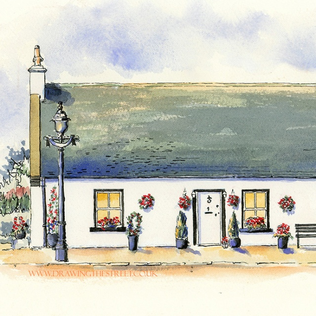 Drawing of no 1 Kirk Road Dalserf Clyde Valley