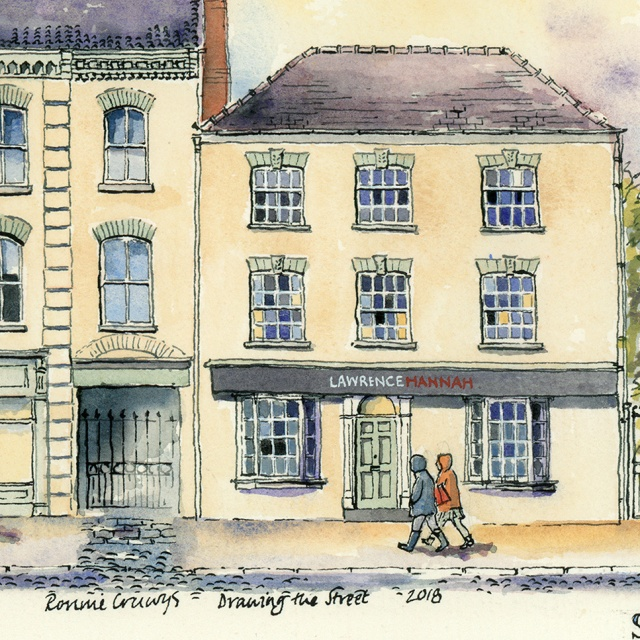 pen and ink drawing of Lawrence Hannah, York