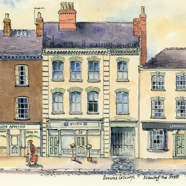 drawing of studio 35 york by ronnie cruwys