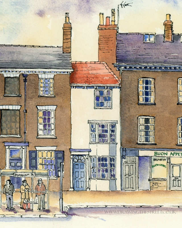 tiny building on blossom street york by ronnie cruwys