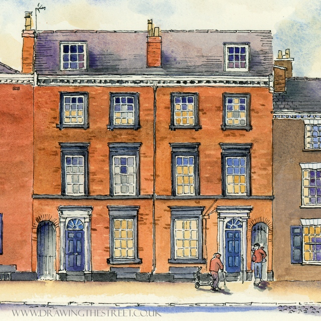 drawing of blossom street york by ronnie cruwys