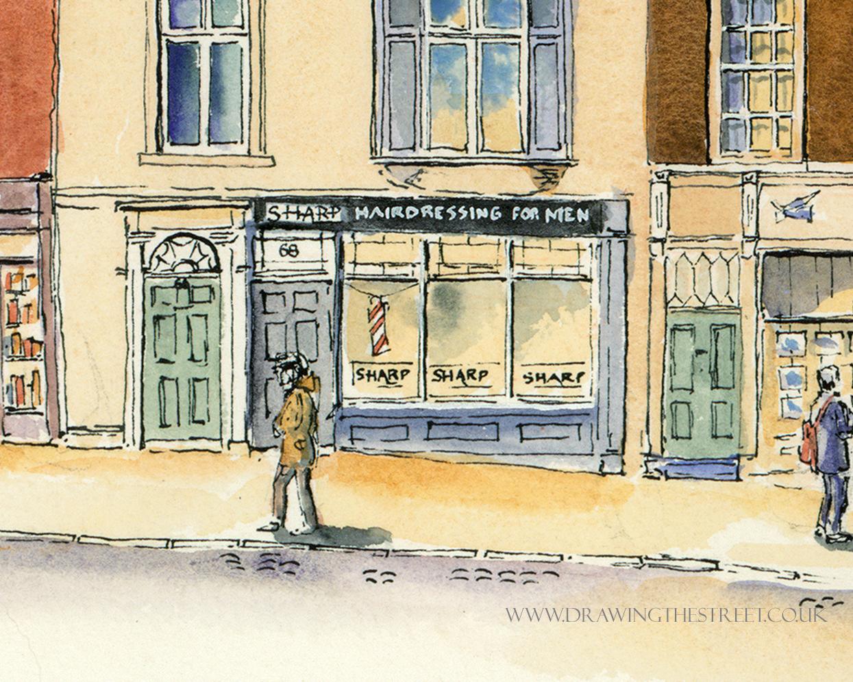 Sharp Hairdressing for men, 68 Micklegate shop front