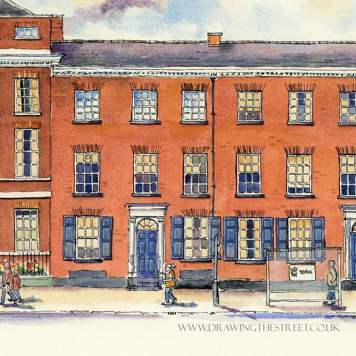 drawing of bar convent living heritage centre york by ronnie cruwys