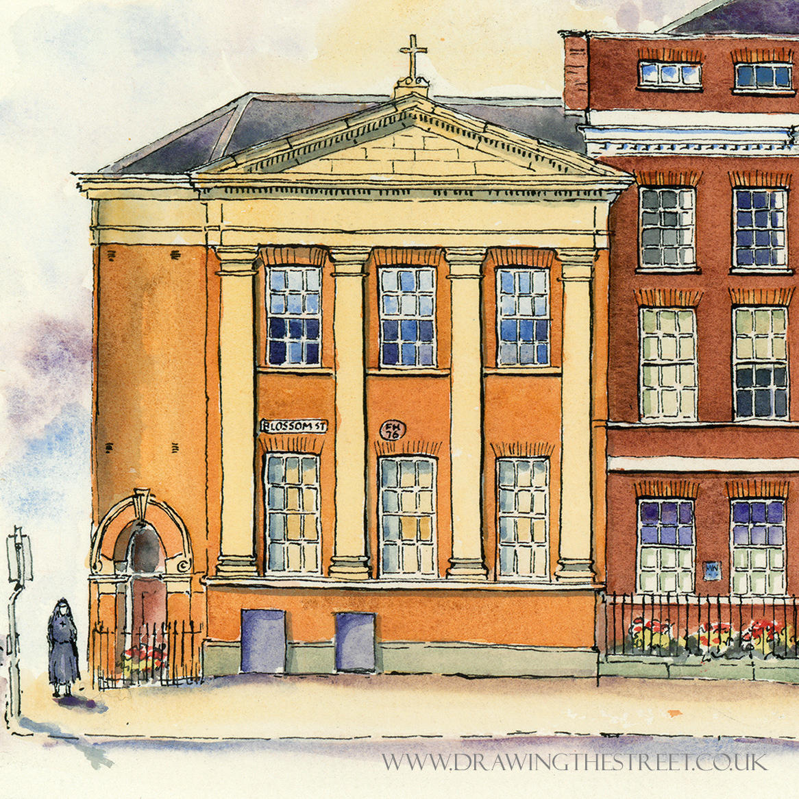drawing of bar convent york by ronnie cruwys