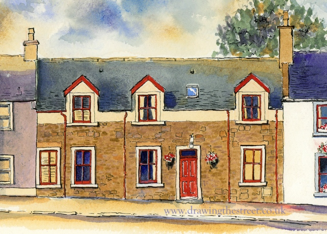 artwork of West Port bed and breakfast Lanark by ronnie cruwys