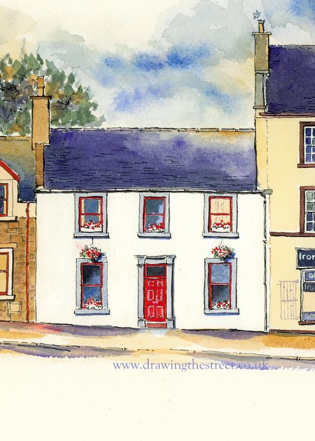 drawing of no 7 west port lanark by ronnie cruwys