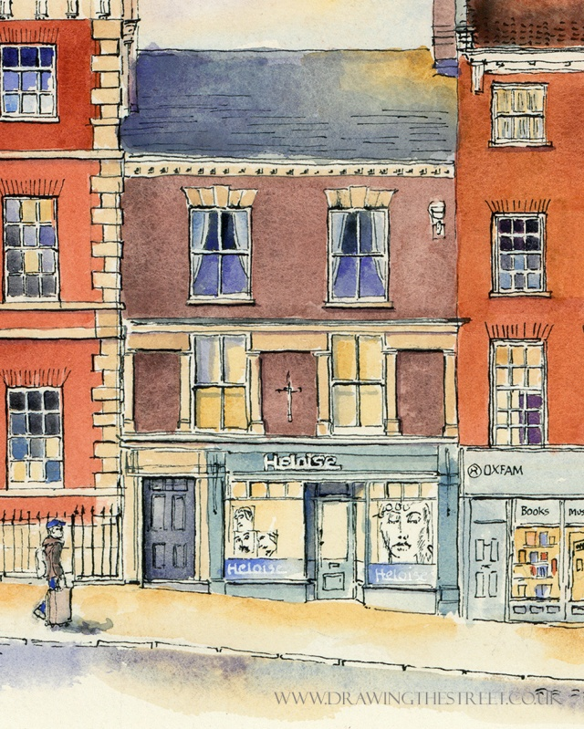 drawing of 50 Micklegate by Ronnie Cruwys