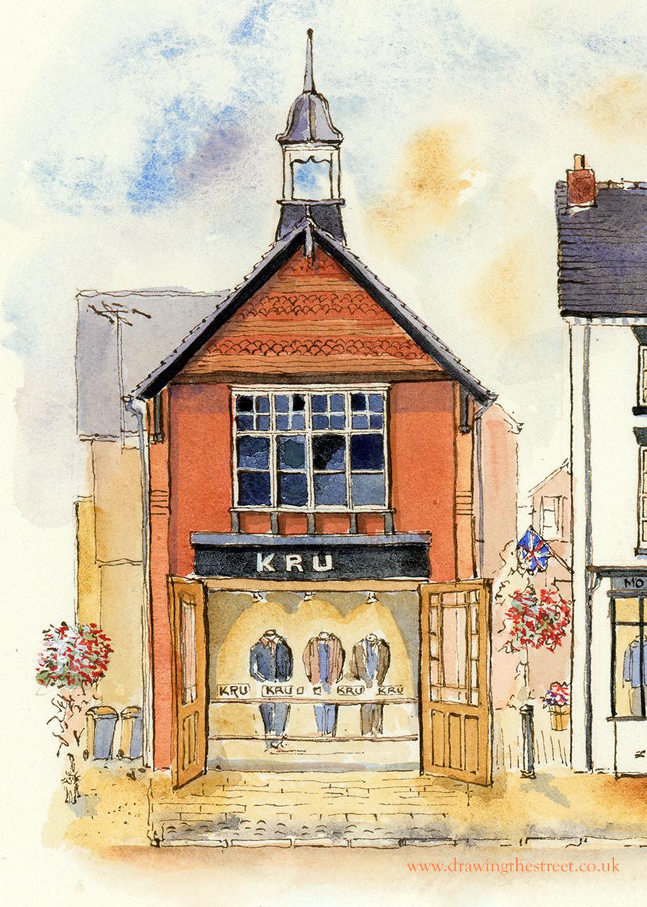 Kru mens clothing eccleshall staffordshire artwork by ronnie cruwys