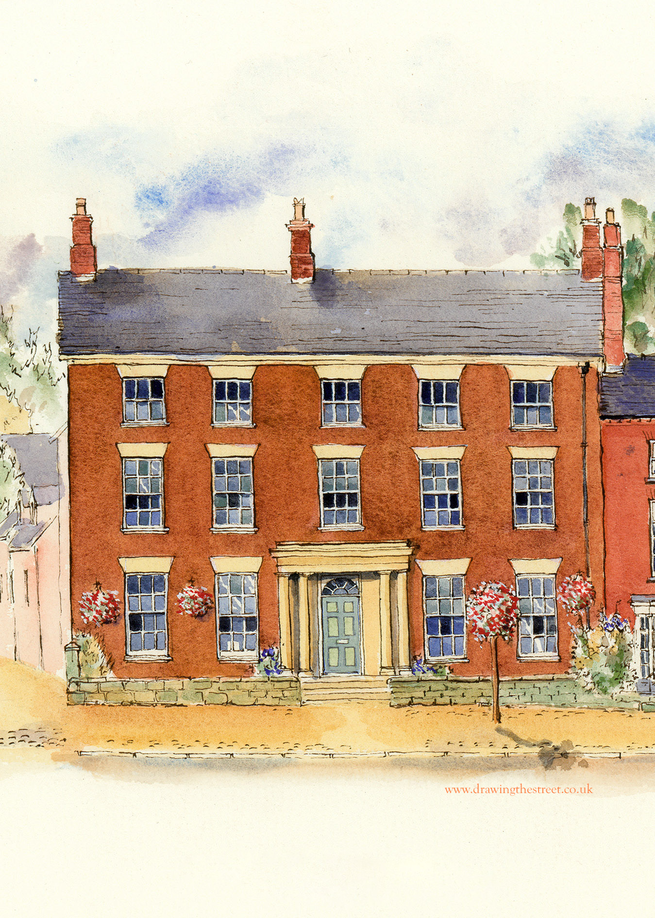 peel house drawing by ronnie cruwys