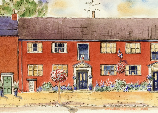lonsdale court red brick building, eccleshall by ronnie cruwys