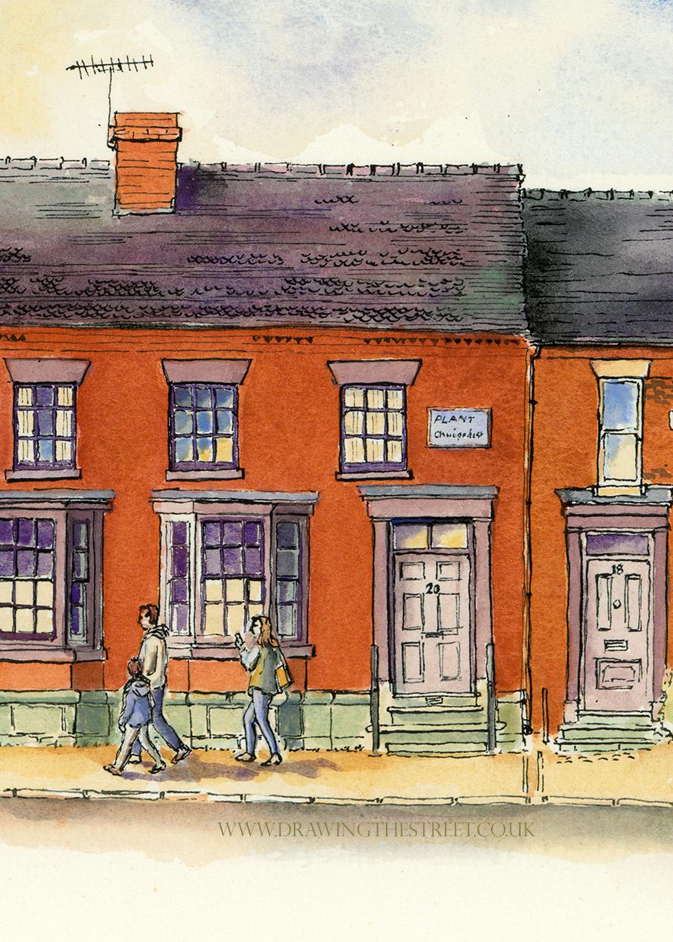 20 stafford street, Eccleshall drawn by ronnie cruwys