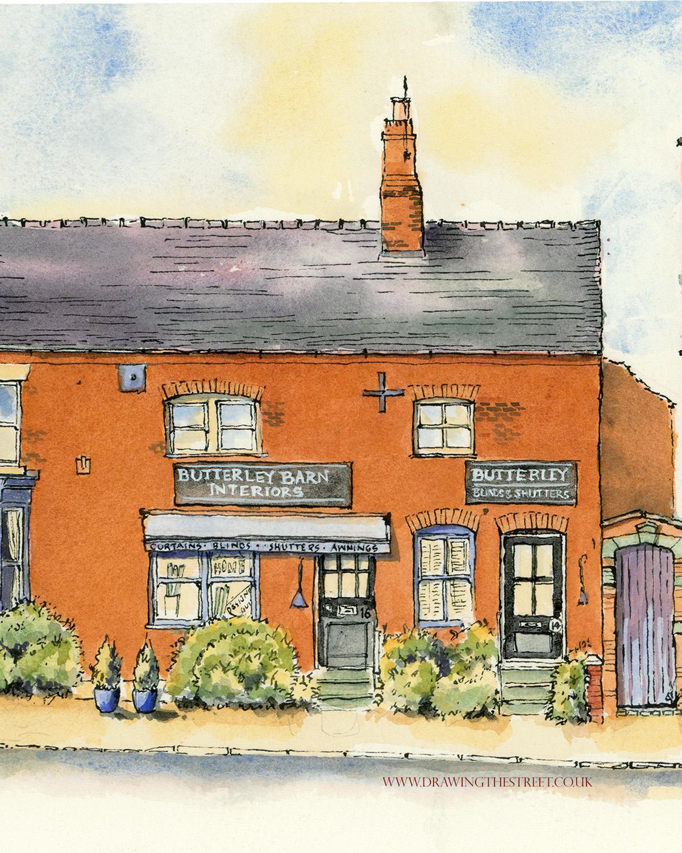 artwork of 14 and 16 Stafford street by ronnie cruwys
